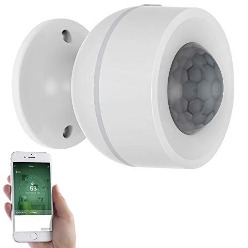 Luminea Home Control Hygrometer: 3in1-WLAN-PIR-Bewegungsmelder, Temperatur- & Luftfeuchtigkeits-Sensor (Hygrometer Elesion)