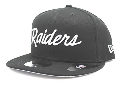 New Era x NFL Men's Las Vegas Raiders 9Fifty Basic Script Snapback Hat Black