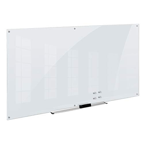 AmazonBasics Glass Dry-Erase Board - White, Magnetic, 8 Feet x 4 Feet