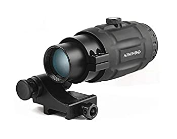 AIMPRO Magnifier for Red Dot Scopes with Flip to Side Mount