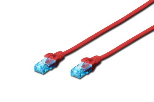 DIGITUS CAT 5e U-UTP patchkabel PVC AWG 26/7 lengte 0,5 m kleur rood