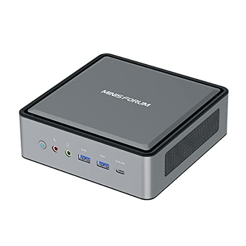 Mini PC AMD Ryzen 5 4500U procesador 6C/6T actualizable 16 GB DDR4 / 256 GB SSD Mini ordenador de sobremesa con Windows 10 Pro, HDMI, DP y USB C- 4K, frecuencia gráfica 1,5 GHz, WiFi 6, BT5.1