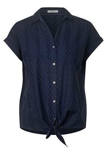 Cecil Damen Hemdbluse mit Stickerei deep Blue XS