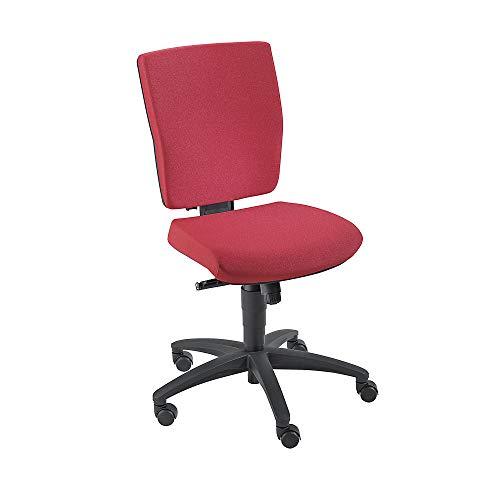 Dauphin Operator-Drehstuhl | Schreibtischstuhl | Bürostuhl, Synchronmechanik Rückenlehnenhöhe 500 mm, rot