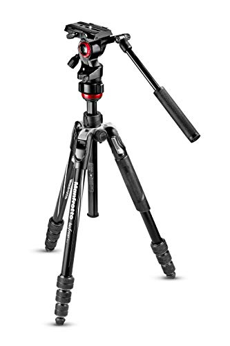 Manfrotto Travel Befree Live Aluminium Tripod Twist, Video Head, Black, Compact (MVKBFRT-LIVEUS)