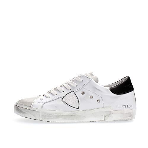Philippe Model Herren prsx Sneaker Blanc/Noir 40 EU