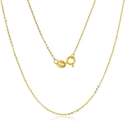 Collar de oro de moda Tigre 24K Colgante de joyería de oro amarillo para mujer con cadena de oro de 18K Cumpleaños perfecto