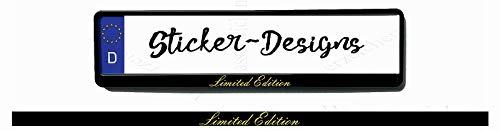2Stück!50x2,5cm! Aufkleber/Klebe-Streifen für Kennzeichenhalter!Limited Edition Gold K59-UV&Waschanlagenfest-Auto-Vinyl-Sticker Profi Qualität-Kratzfest!