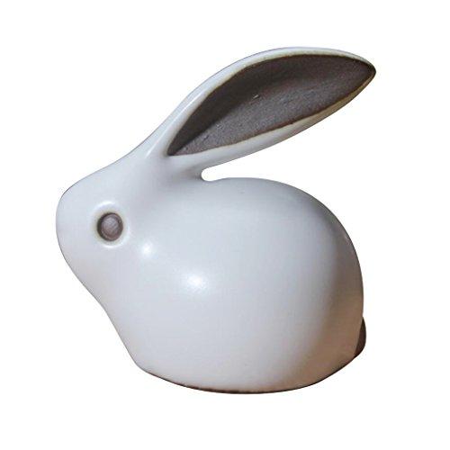 Hoobar Chinese Tea Pet Mini Ru Kiln Tea Pet Cute Rabbit Zisha Pet for Kungfu Tea Tray