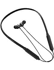 Bluetooth-hörlurar Nack Hörlurar Wirelesss Sports hörlurar med mikrofon vattentät för Workout Running Black, bekväm att bära under lång tid