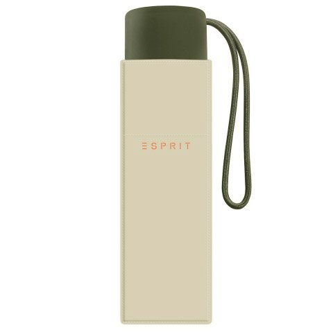 ESPRIT, Parapluie pliants Unisexe - Adulte Champagne ecru