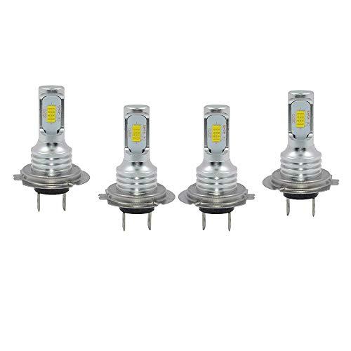 Cobeky Kit de 4 bombillas LED H7 + H7 Combo de faros delanteros LED de 240 W 52000 lm 6000 K Super White