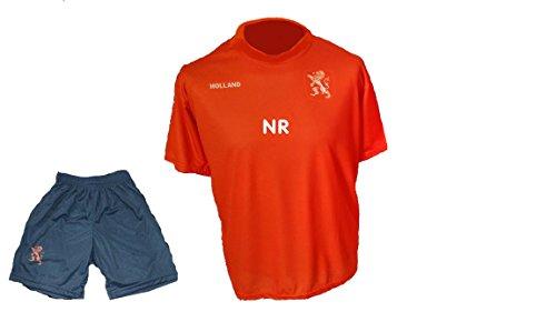 Spielfussballshop Holland Niederlande Trikot Hose mit Wunschname Nummer Kinder Größe 110