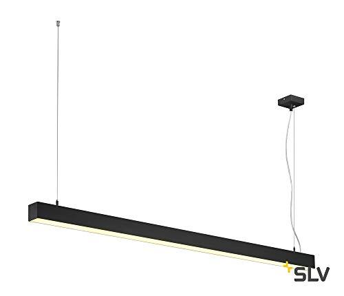 Q-LINE DALI SINGLE LED, Pendelleuchte, dimmbar, 1500mm, schwarz