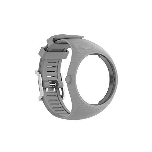 LYB Correas de Pulsera para Polar M200 Deportes SmartWatch Reemplazo Pulsera de Banda de Reloj con Herramientas Reloj Bandas de Correa (Color : Gray, Size : For Polar M200)
