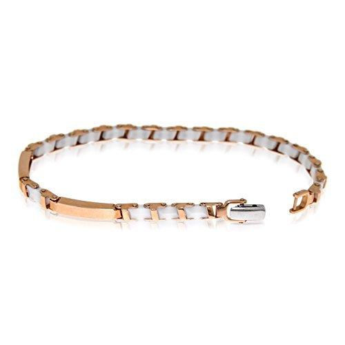 Gioiello Italiano - 14kt roze gouden armband met keramiek