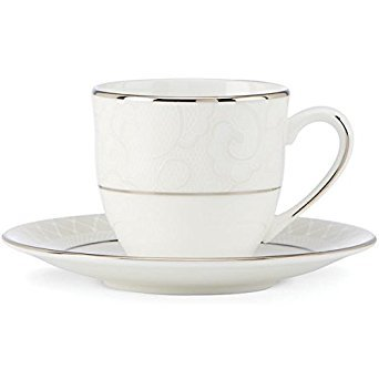 Lenox Venetian Lace Dishwasher Safe China Demi Cup and Saucer