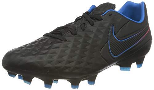 Nike Legend 8 PRO FG, Scarpe da Calcio Unisex-Adulto, Black/Black-Siren Red-lt Photo Blue-Cyber, 43 EU