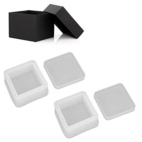 Eulbevoli Caja de Bricolaje, Caja de Silicona Antiadherente a Mano para Guardar Pendientes, Anillos y Llaves