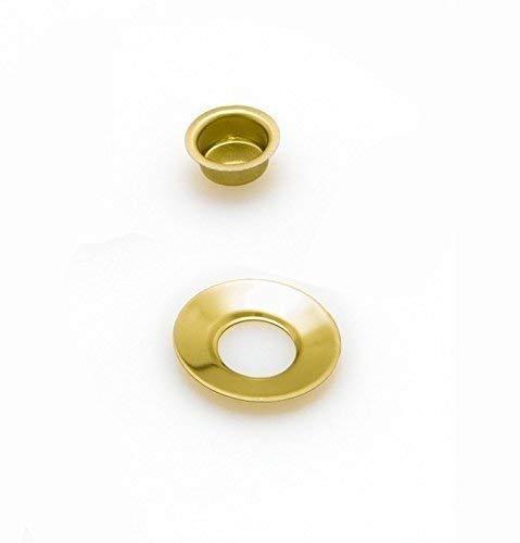 Tüllen für Geburtstagskerzen vermessingt mit Tropfenfänger Ø 12mm, Größe:10 Stück