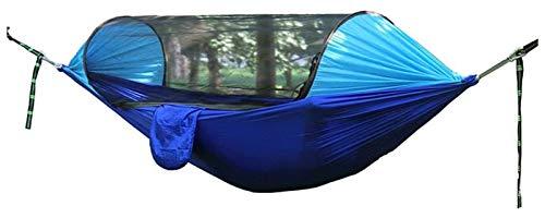 Acampar hamaca con Mosquitera, Columpio for la Sombrilla Hamaca, Hamaca portátil ultra-ligero doble paracaídas hamacas Senderismo, Viajes (Tamaño: 250 * 120 cm) ( Color : Blue , Size : 250*120cm )