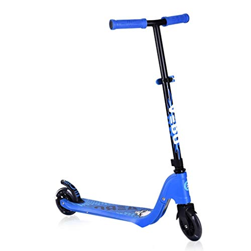 JSZHBC Vespa Plegable portátil for Hombres Mujeres Truco de Dos Ruedas Scooter de Deportes al Aire Libre Plegable de 80 kg no eléctrico Scooter clásico (Color : Blue)