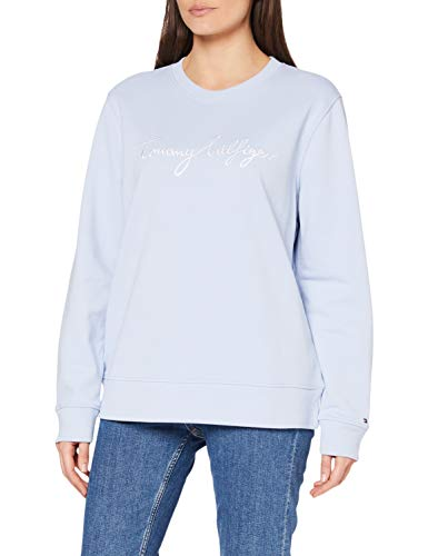 Tommy Hilfiger Damen Regular Graphic C-NK Sweatshirt, Blue, XS