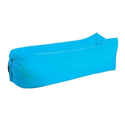 ピクニックマット 芝生パークキャンプマット防水ピクニックマットビーチ怠惰なソファーインフレータブル怠惰なバッグエアソファベッド水分防止ラウンジャーマットレスパッド ナイロン (Color : Sky blue Square)