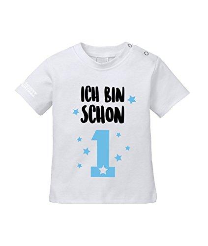 Jayess Geburtstag - Ich Bin Schon 1 - Baby Weiss - Blau - T-Shirt by Baby Gr. 80/86