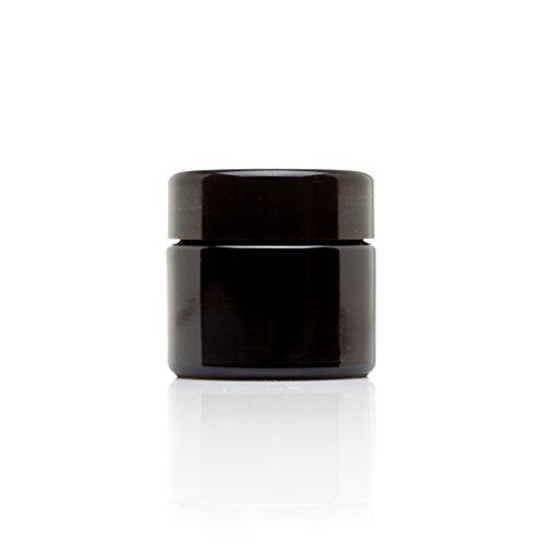Infinity Jars 50 Ml (1.7 fl oz) Travel Size Black Ultraviolet Glass Screwtop Jar