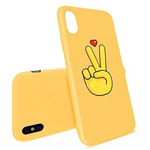 APHT Estampado Amarillo, Animal y Vegetal Carcasa De Telefono Compatible con iphone5-12 MAX Silicone Shockproof Soft Flexible Gel TPU Rubber Protective Case