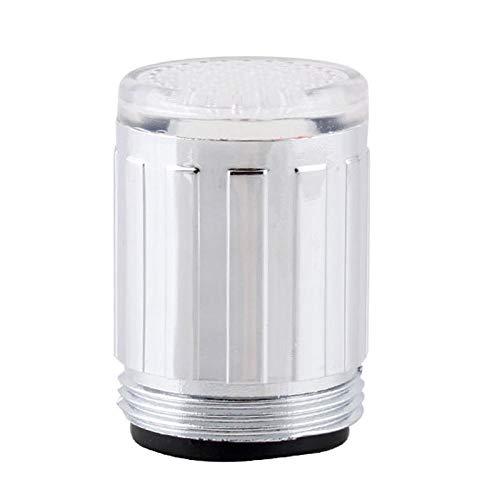 OPXZPM Luz de Grifo LED Boquilla de Grifo RGB 7 Colores Cambio de Temperatura Parpadeante Aireador de Grifo Cocina Que Ahorra Agua, A