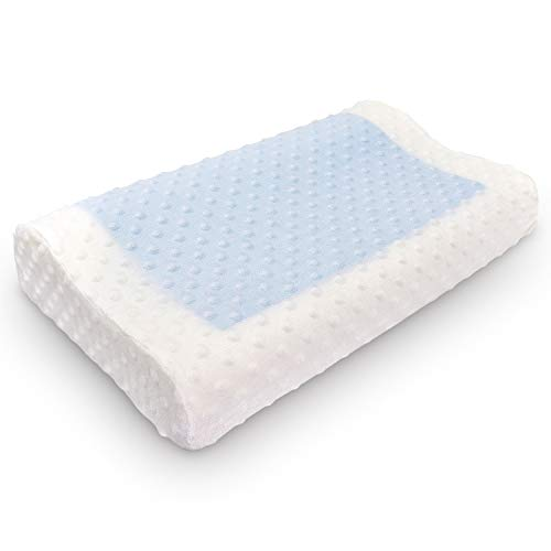 Gel Memory Foam Pillows, Cooling Pillow, Orthopedic Neck & Back Support, Cervical Bed Pillow for Neck Support, Bed Sleeping Pillow, Bamboo Pillow Removable Washable Covers
