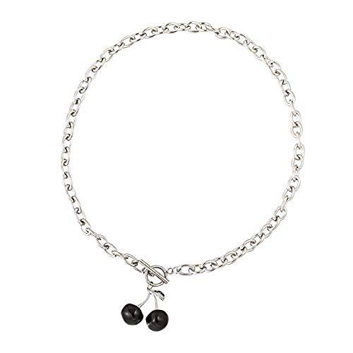 YZXYZH Collar De Cereza Cadena De Clavícula Femenina Larga