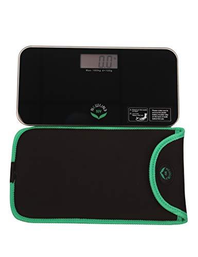 NewlineNY Black Mini Bathroom Scale + Travel Slip Case SBB-0718MBK+101BG