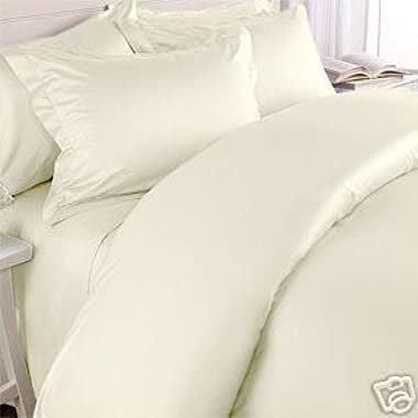 Hotel Luxury Bed Sheets Set-Top Quality Softest Bedding 1800 Series Platinum Collection-Deep Pocket,Wrinkle & Fade Resistant (Queen,Ivory)
