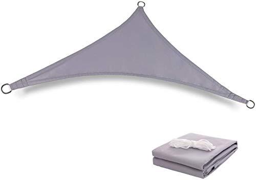 Triangular Patio Parasol, Parasol Sombra Gris UV, for al Aire Libre Toldo, Patio jardín Patio (Size : 3x3x4.25m)