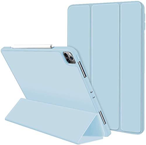 Seilent Funda Compatible con iPad Pro 11' 2020/2018,Cubierta Trasera Translúcida con Apertura Auto Sueño/Estela para iPad Pro 11 Inch 2020 2ª generación & 2018