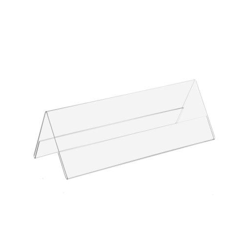 12 Stück DIN A5 (1/2) A-Aufsteller / Dachaufsteller / Tischnamensschild im Querformat / passend für Din A5 längs gefaltet