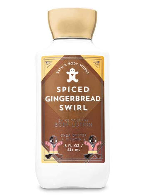 レシピ発揮する通貨【Bath&Body Works/バス&ボディワークス】 ボディローション スパイスジンジャーブレッドスワール Body Lotion Spiced Gingerbread Swirl 8 fl oz / 236 mL [並行輸入品]