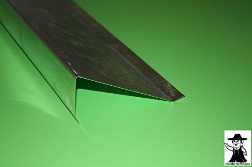 Ortgangblech für Flachdach 2 m lang Aluminium 0,8 mm (klein)