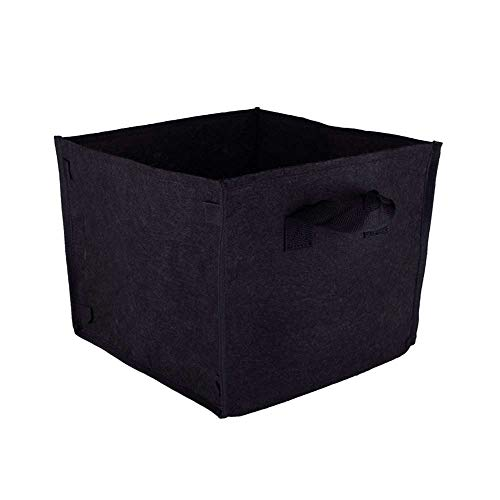 Garden Felt Plant Grow Bags with Handles, Thickened Planting Bed Aeration Fabric Pots Thickened Square Felt Planting Bag