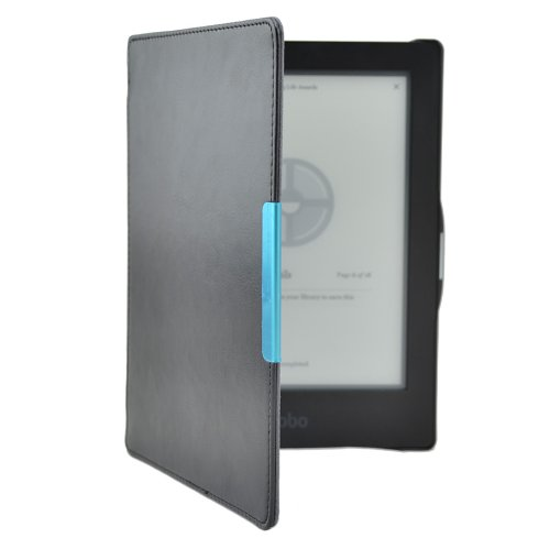 Kepuch Custer Hülle für Kobo Aura HD,Smart PU-Leder Hüllen Schutzhülle Tasche Case Cover für Kobo Aura HD - Schwarz