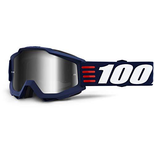 100% Accuri Goggle Art Deco, Erwachsene,Spiegel Silber Linse