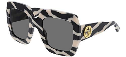 Gucci Gafas de Sol GG0178S White Black/Grey 54/25/145 mujer