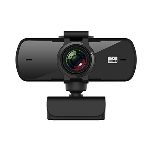 Full HD 2K USB Webcam,Built-in Noise Reduction Microphone Webcam, for PC Desktop Laptop Mac,Be Used for Video Calling, Studying, Conference, Live Video,Recording, Gaming with Rotatable Clip.