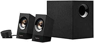 Logitech Z533 2.1 Sistema de Altavoces 2.1 con Subwoofer, Sonido Potente, 120W de Pico, Graves Potentes, Entradas Audio 3.5 mm/RCA, Multidispositivos, Enchufe EU, PC/PS4/Xbox/TV/Smartphone/Tablet