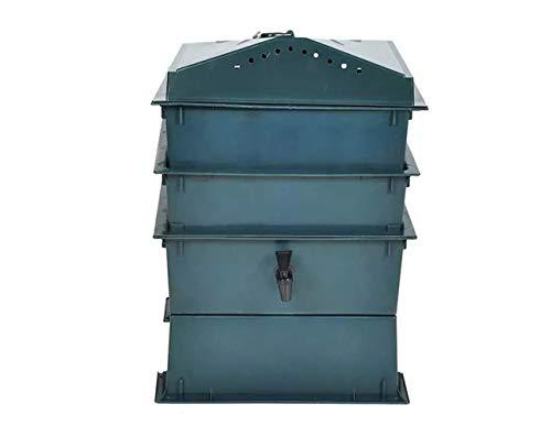 ♻ Compostador de lombrices con 3 bandejas - Vermicompostador Especial para fabricar Humus de lombriz