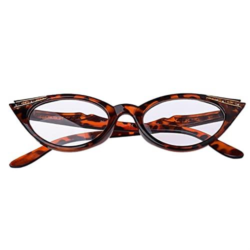 XWYZY Gafas de Lectura, Gafas de Lectura de Ojos Gato de Las Mujeres, Moda clásica Lente presbiliaria, espectáculos Visión Clara len + 1.0 ~ + 3.5 (Color : Leopard, Size : +250)