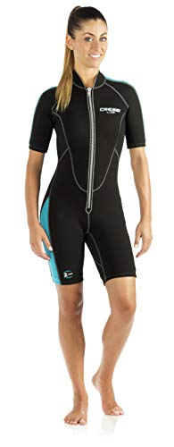 Cressi Lido Short, Black/Aquamarine